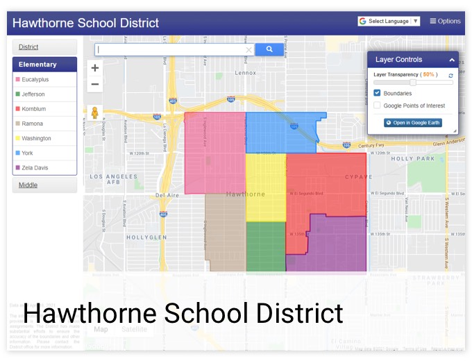 Hawthorne School District | GIS Planning Software and Mapping Services