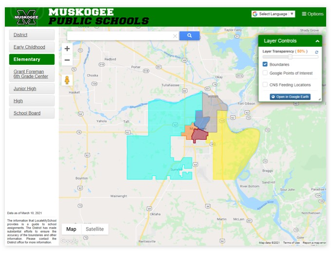 Muskogee Public Schools  | GIS Planning Software and Mapping Services