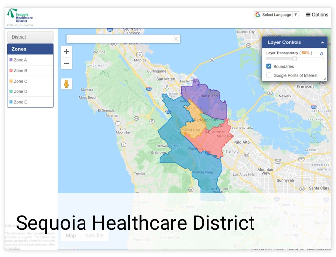 Sequoia Healthcare District | GIS Planning Software and Mapping Services