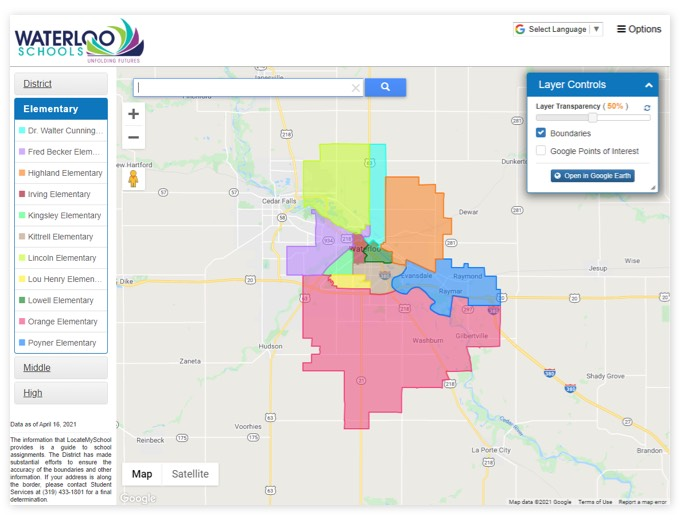 Waterloo Schools | GIS Planning Software and Mapping Services